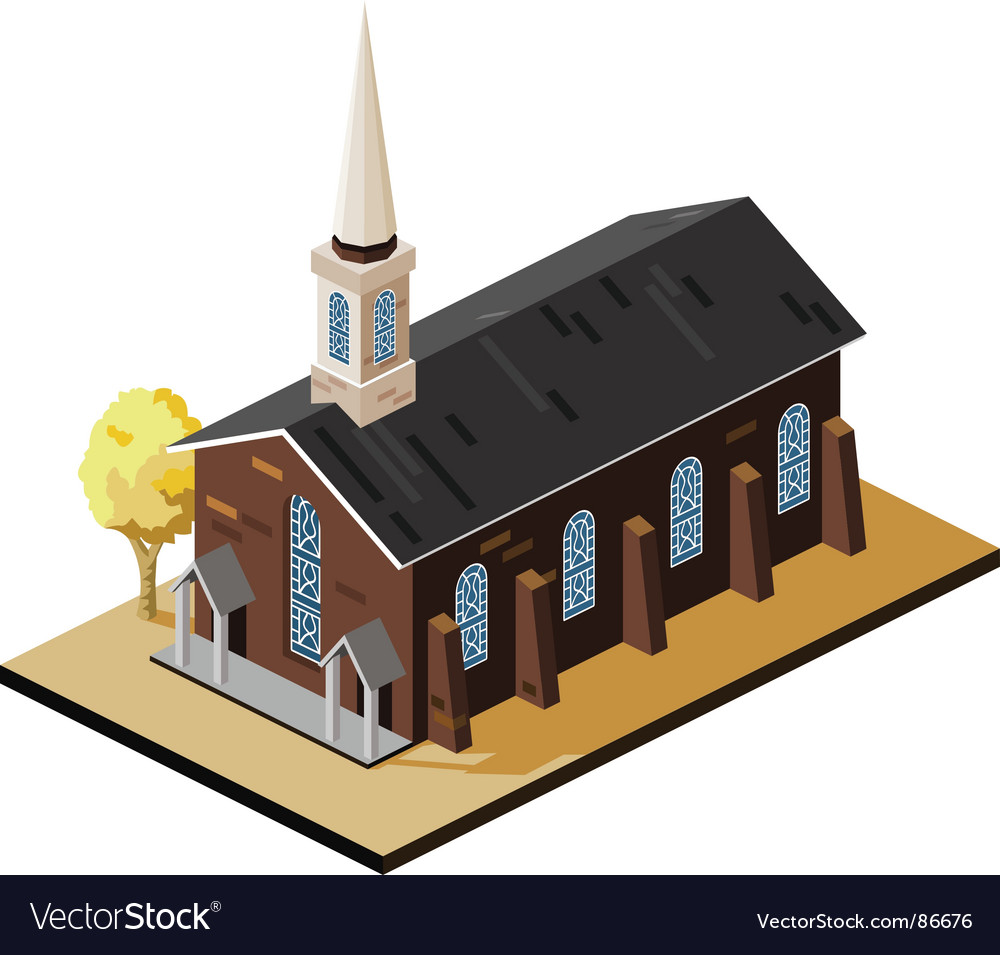 Old church vector | Price: 1 Credit (USD $1)