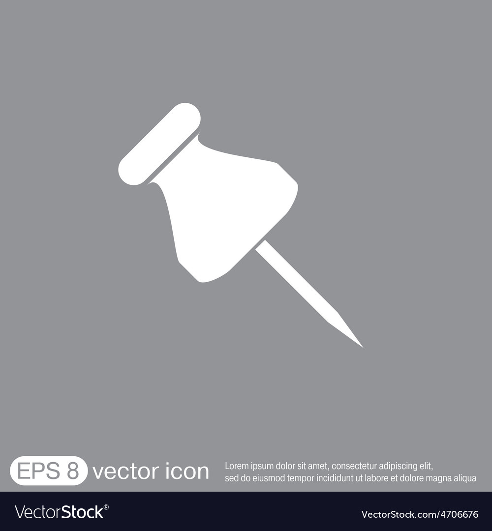 Pin for papers symbol icon office supplies vector | Price: 1 Credit (USD $1)