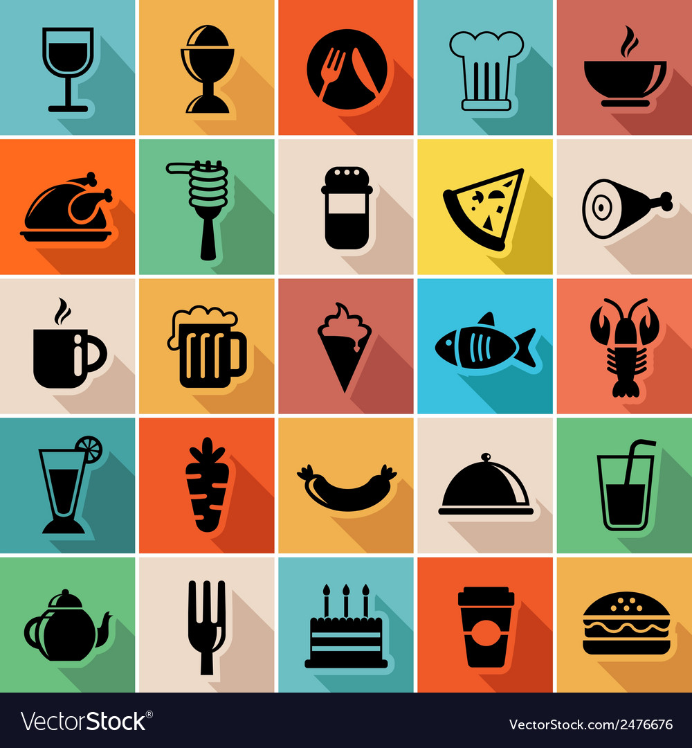 Set of food icons vector | Price: 1 Credit (USD $1)