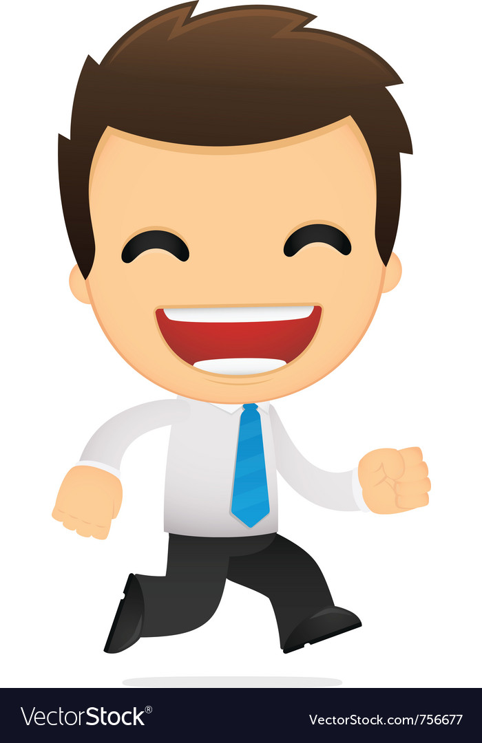 Cartoon office worker vector | Price: 1 Credit (USD $1)