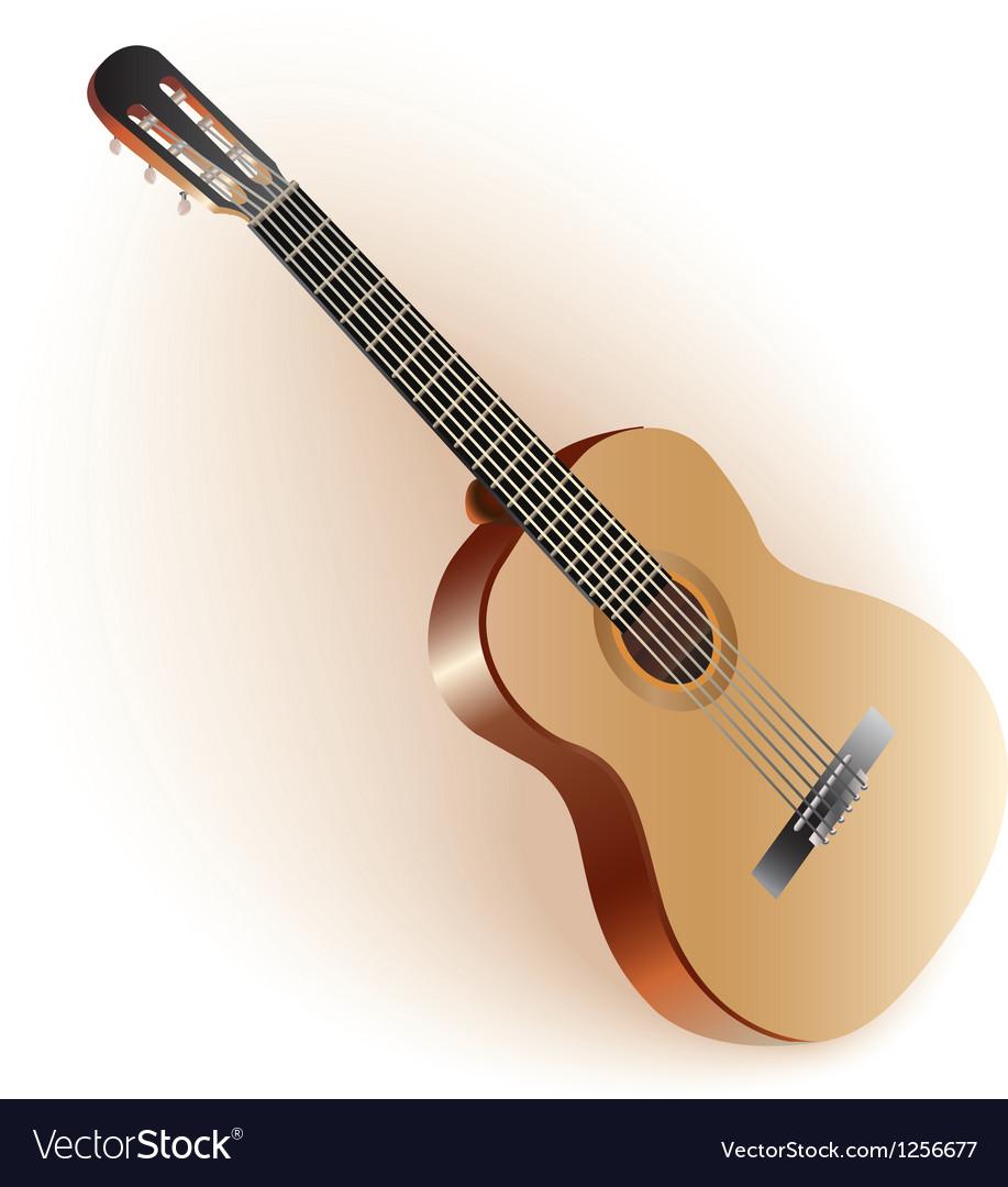 Classical spanish guitar vector | Price: 1 Credit (USD $1)