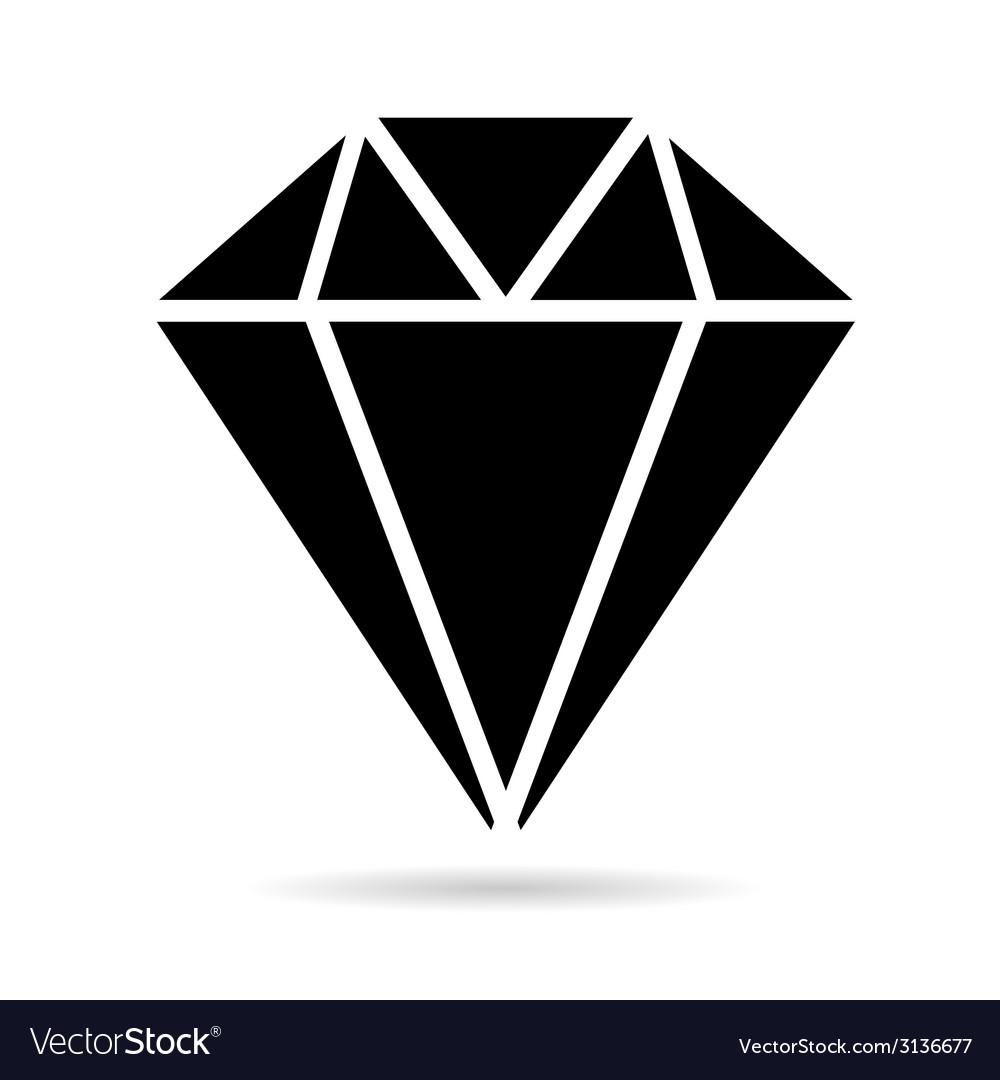 Diamonds brilliant black vector | Price: 1 Credit (USD $1)