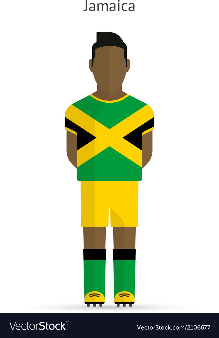 Jamaica football player soccer uniform vector | Price: 1 Credit (USD $1)