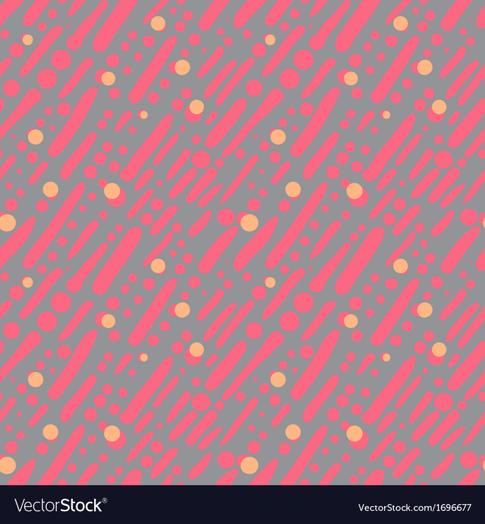Pattern with random brushstrokes and dots vector | Price: 1 Credit (USD $1)
