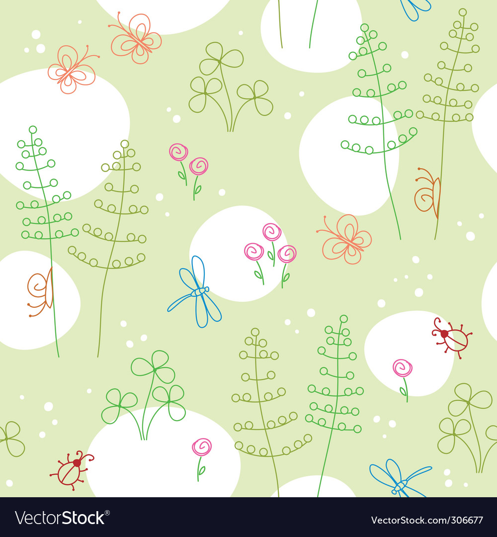 Spring seamless background vector | Price: 1 Credit (USD $1)