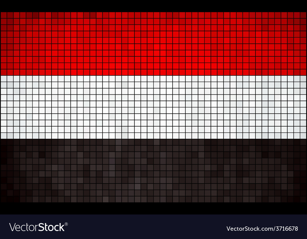 Abstract mosaic flag of yemen vector | Price: 1 Credit (USD $1)
