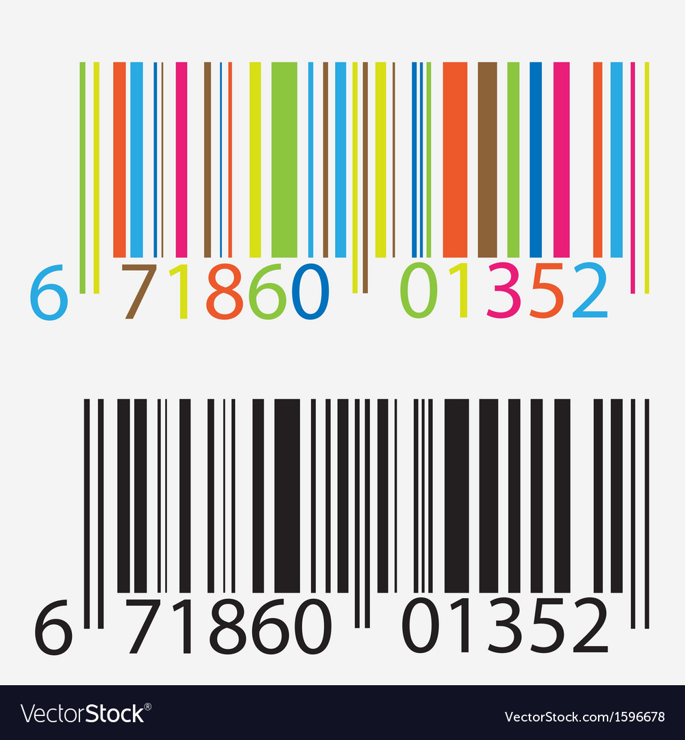 Black and colored barcode vector | Price: 1 Credit (USD $1)