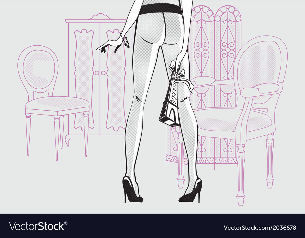 Girl in the interior vector | Price: 1 Credit (USD $1)
