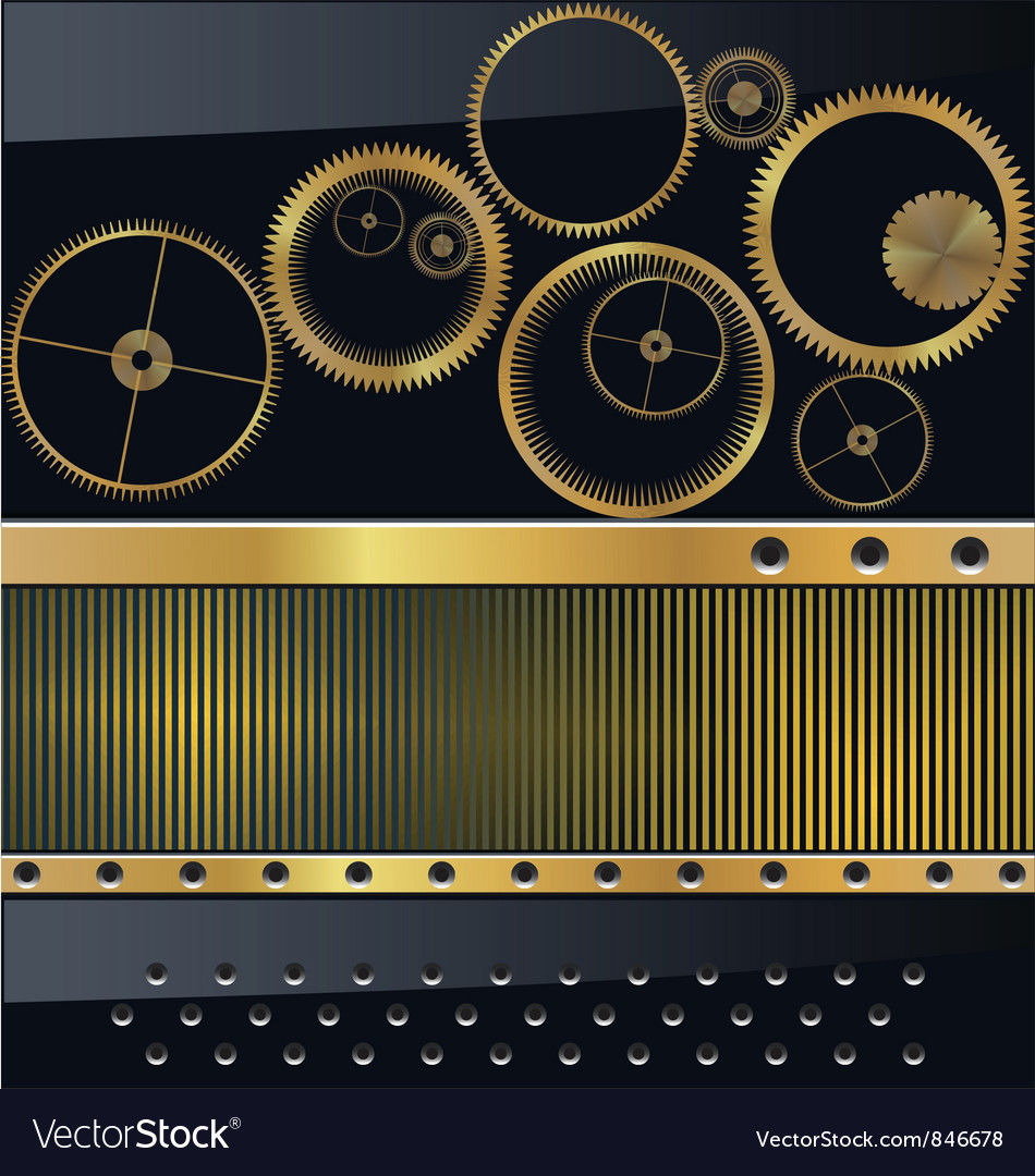 Gold gear background vector | Price: 1 Credit (USD $1)