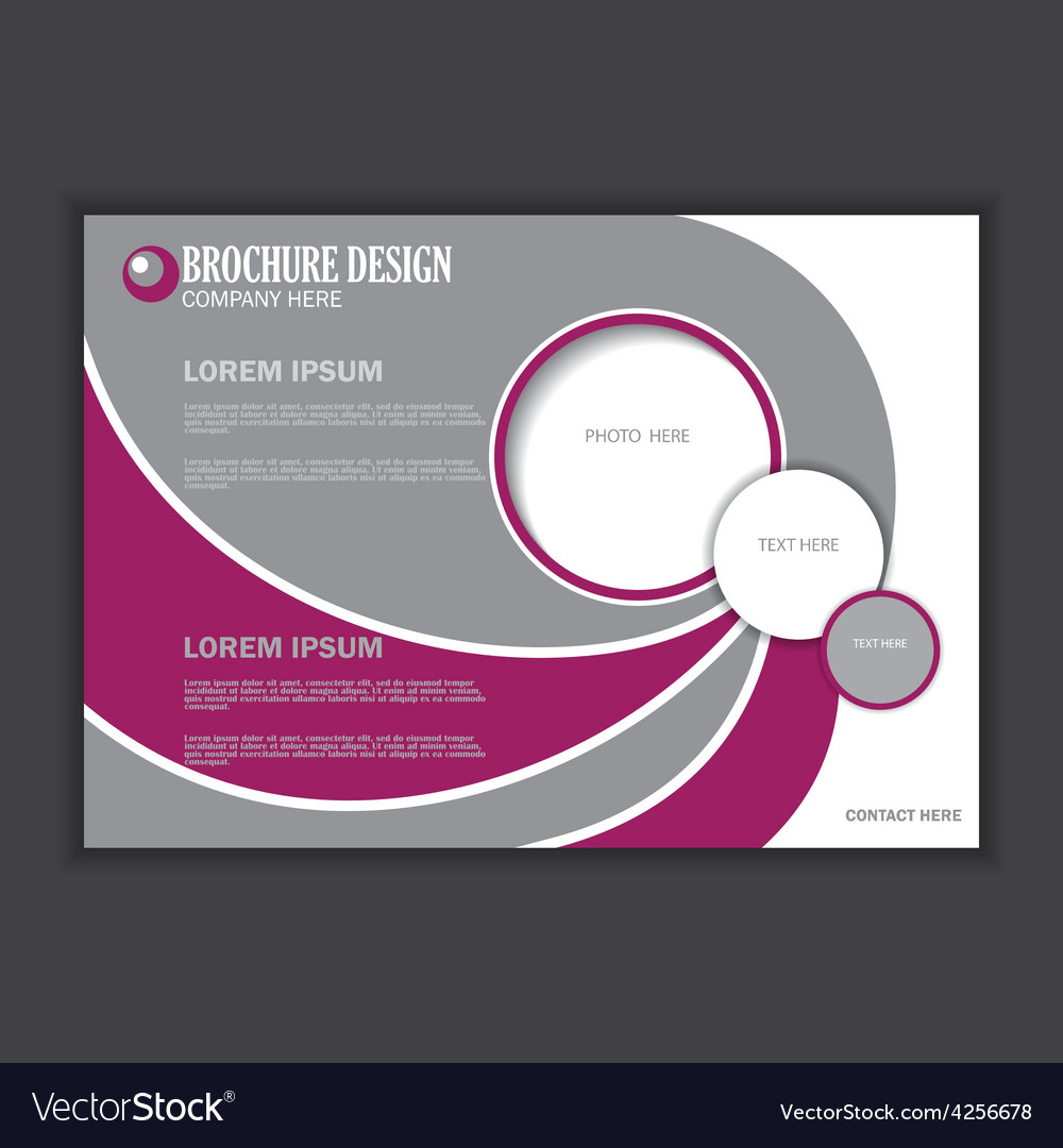 Horizontal presentation of business poster vector | Price: 1 Credit (USD $1)