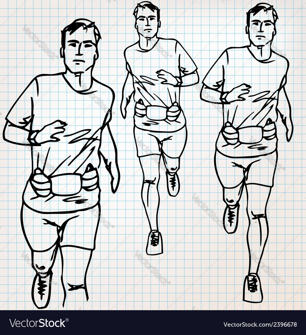 Male runner sketch vector   Price: 1 Credit (USD $1)