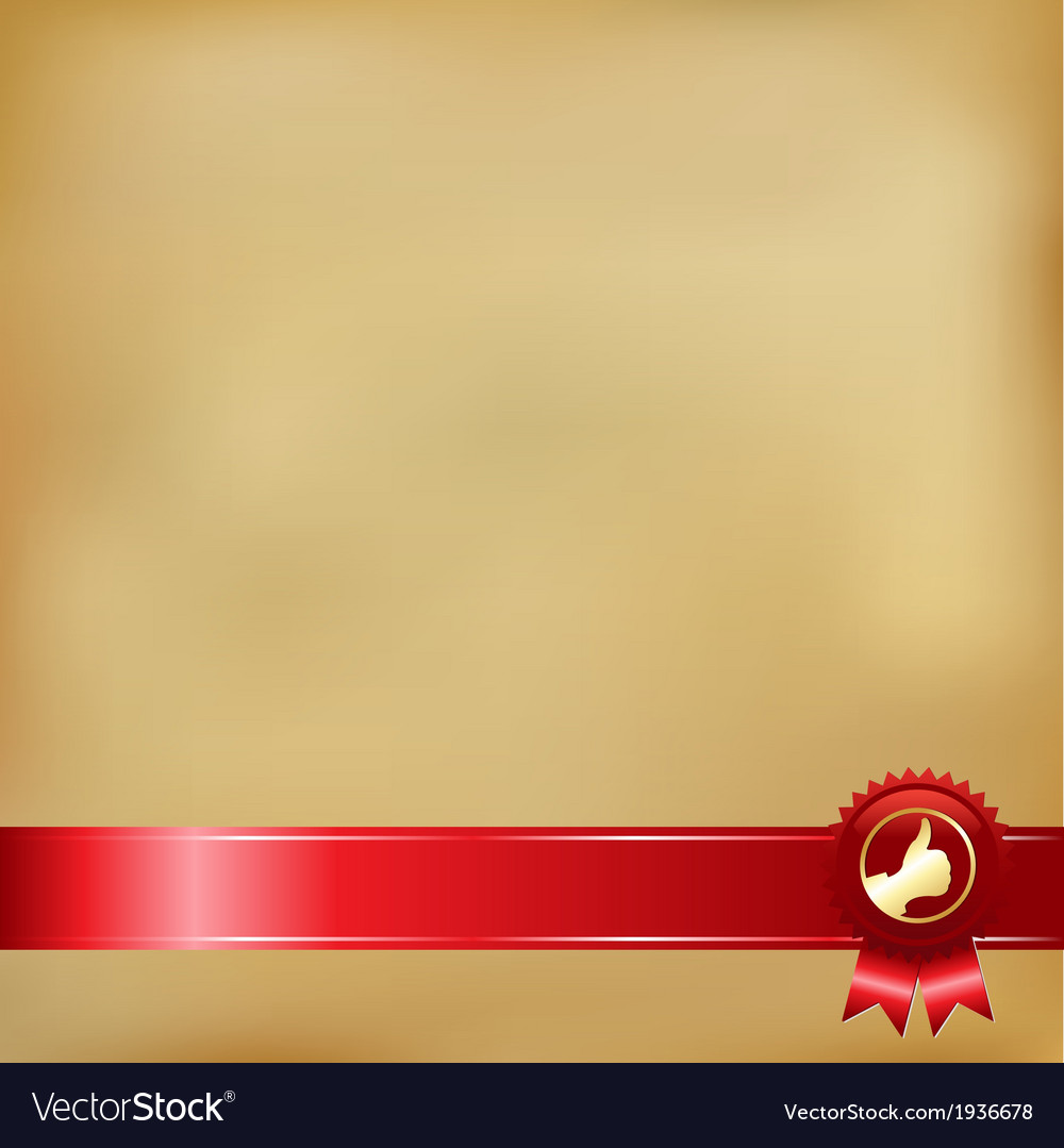 Old paper and gold award ribbons vector | Price: 1 Credit (USD $1)