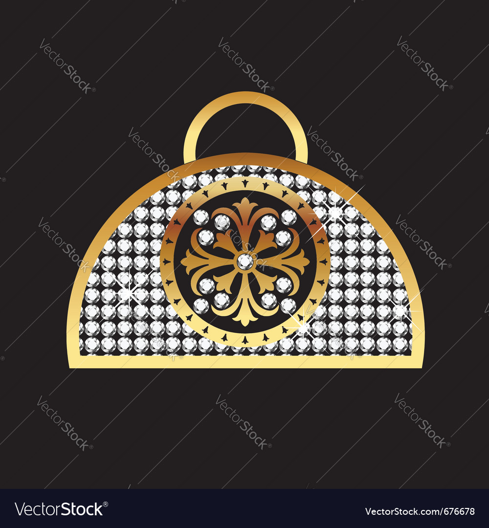 Purse gold vector | Price: 1 Credit (USD $1)