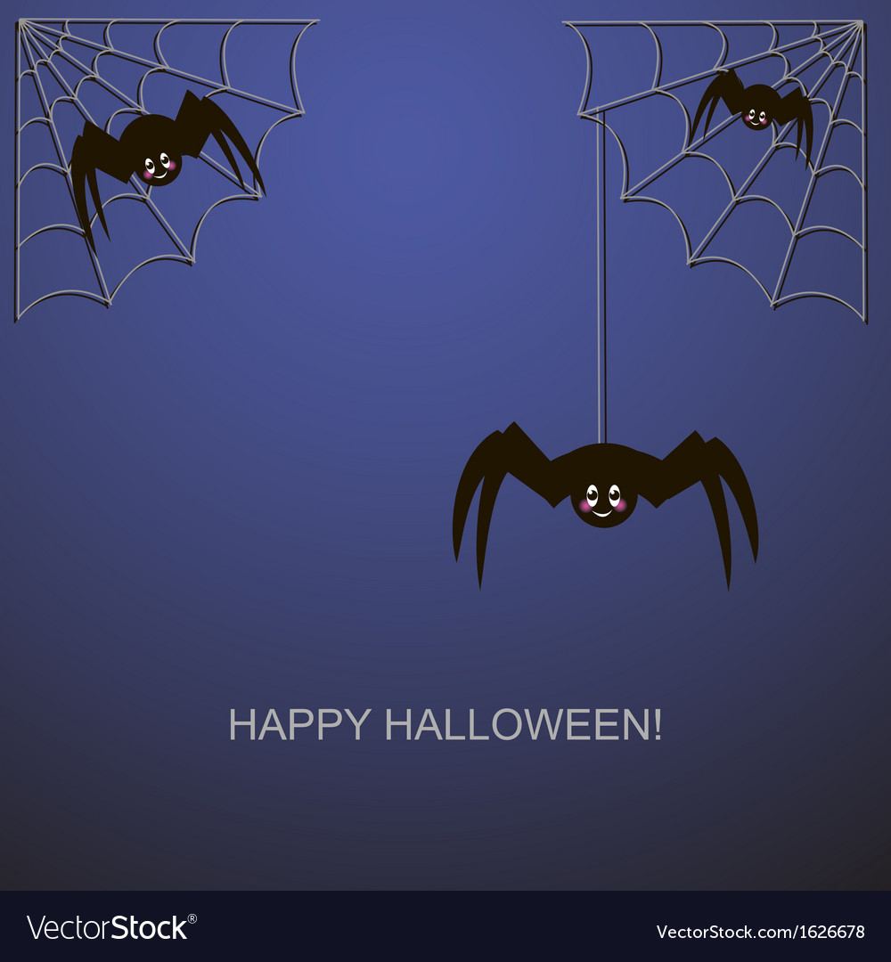 Spiders in the web vector | Price: 1 Credit (USD $1)