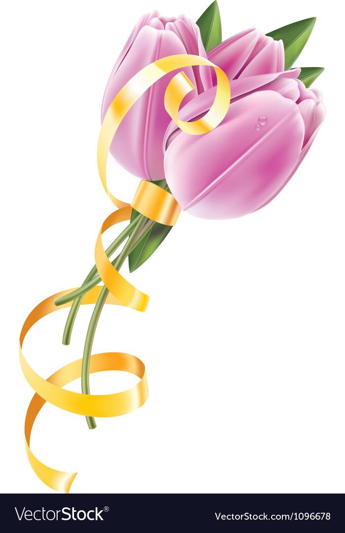 Tulip gold vector | Price: 3 Credit (USD $3)