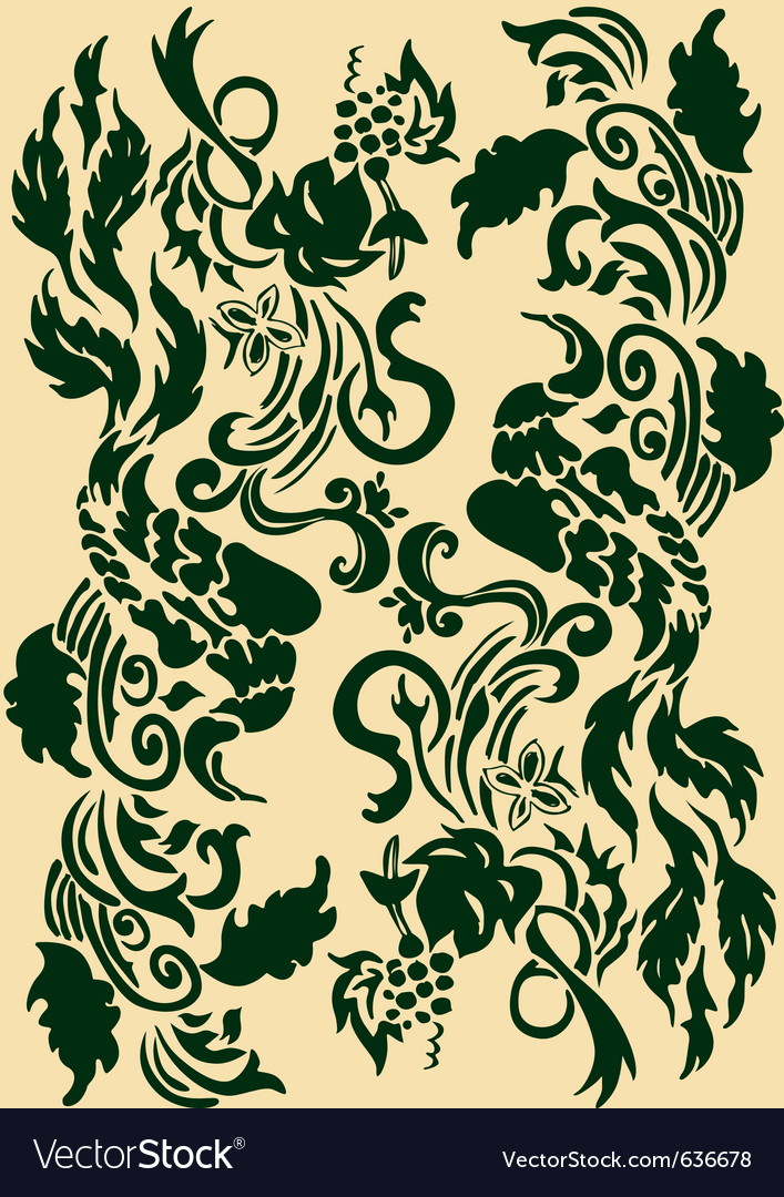 Victorian scroll floral vector | Price: 1 Credit (USD $1)