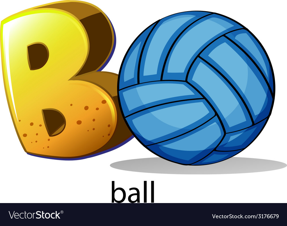 A letter b for ball vector | Price: 1 Credit (USD $1)