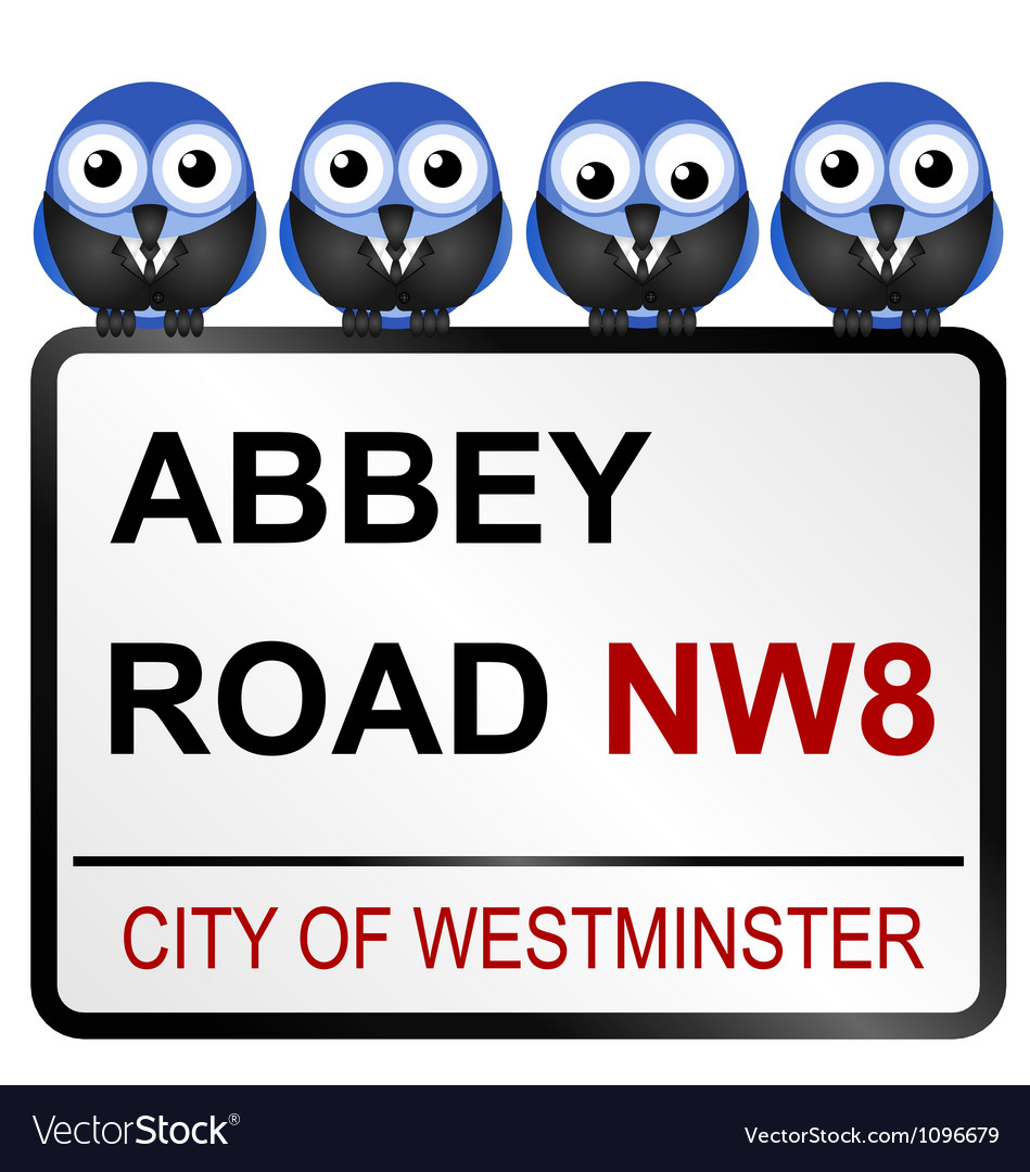 Abbey road sign vector | Price: 1 Credit (USD $1)