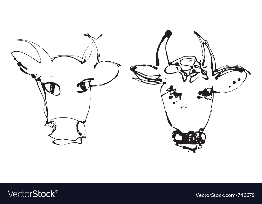 Artistic cow vector | Price: 1 Credit (USD $1)
