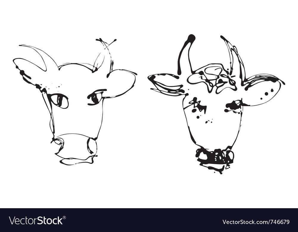 Artistic cow vector   Price: 1 Credit (USD $1)