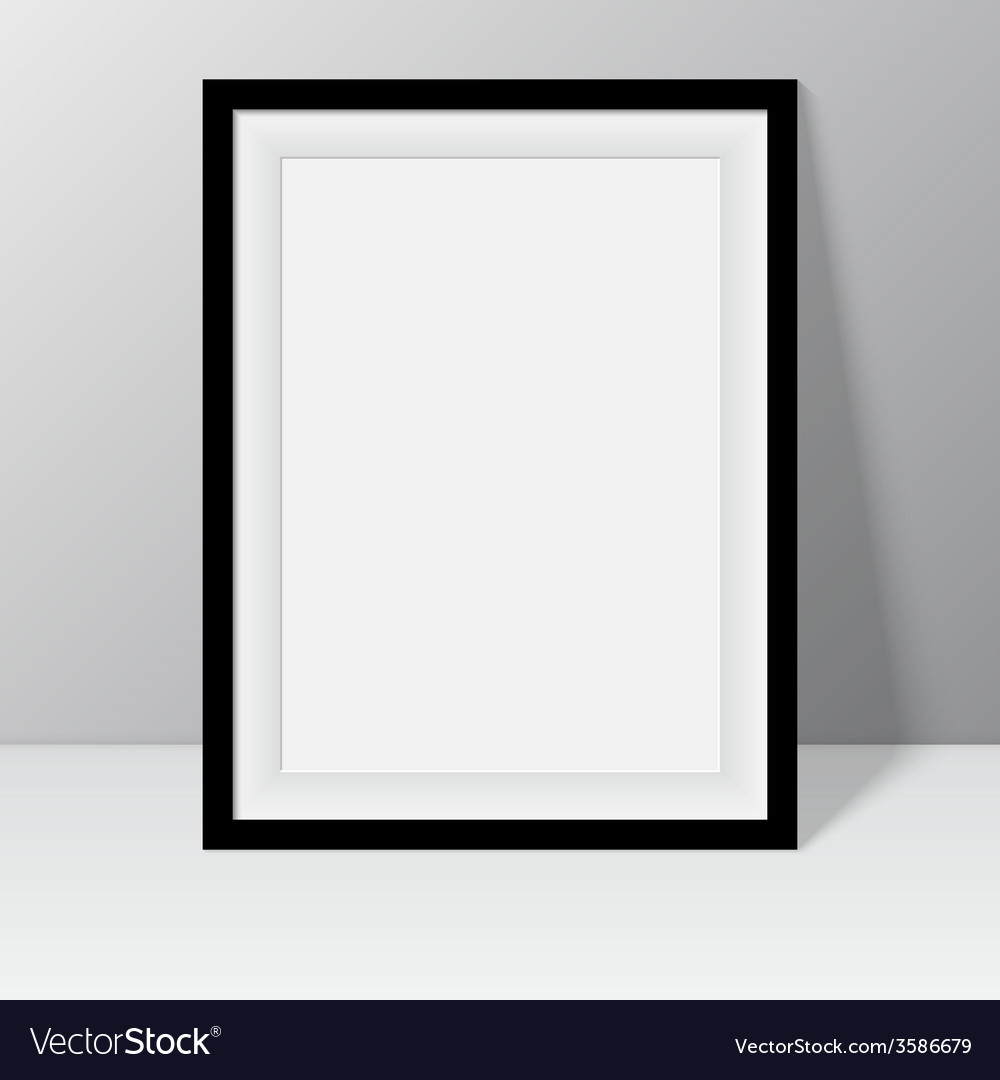 Black frame for paintings or photographs vector | Price: 1 Credit (USD $1)