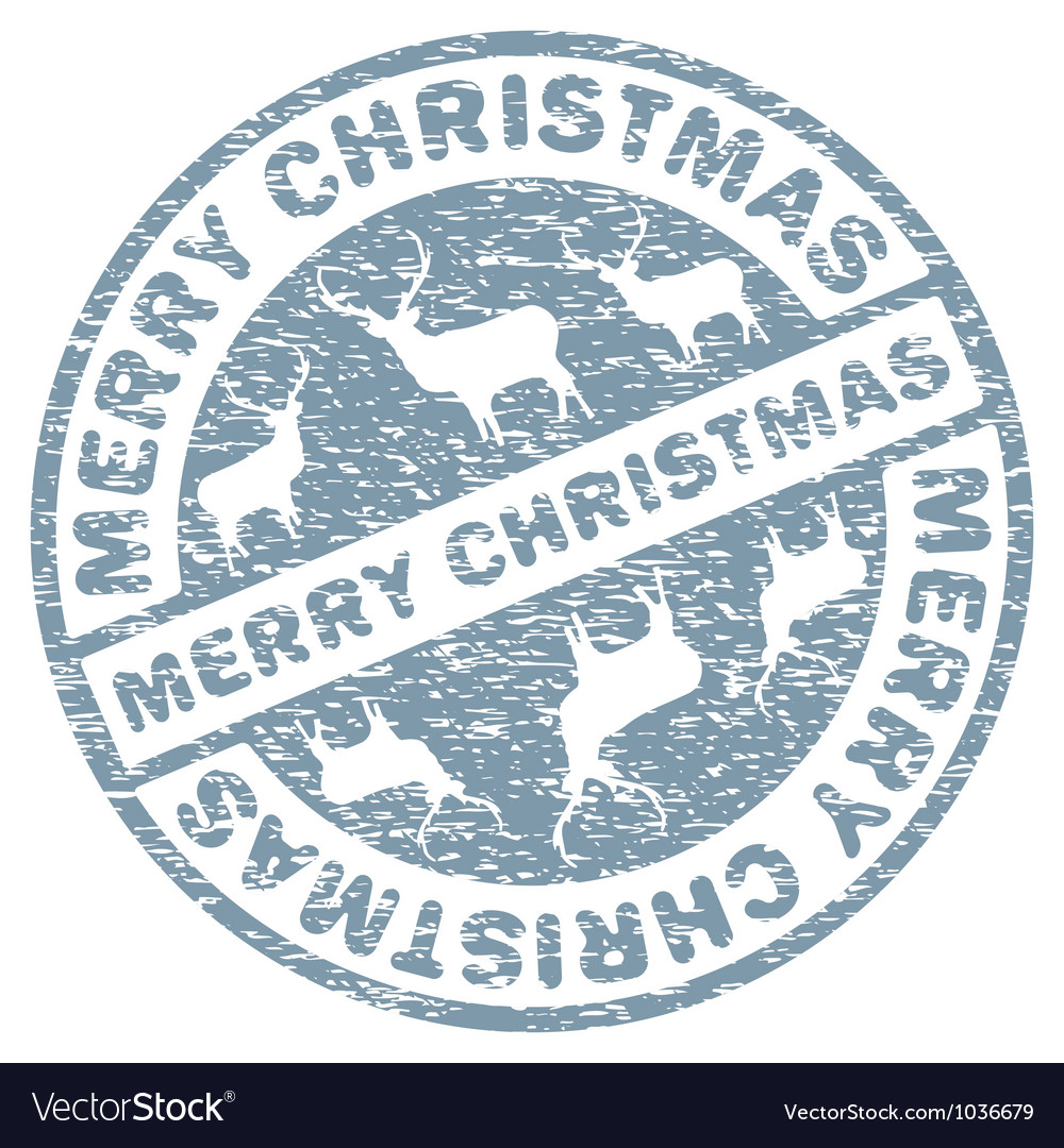 Christmas stamp template vector | Price: 1 Credit (USD $1)