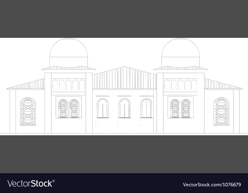 The facade of the building vector   Price: 1 Credit (USD $1)