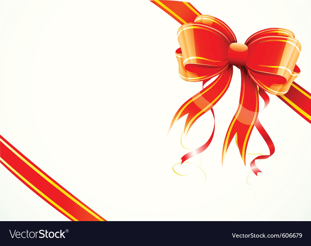 Gift bow and ribbon vector   Price: 1 Credit (USD $1)