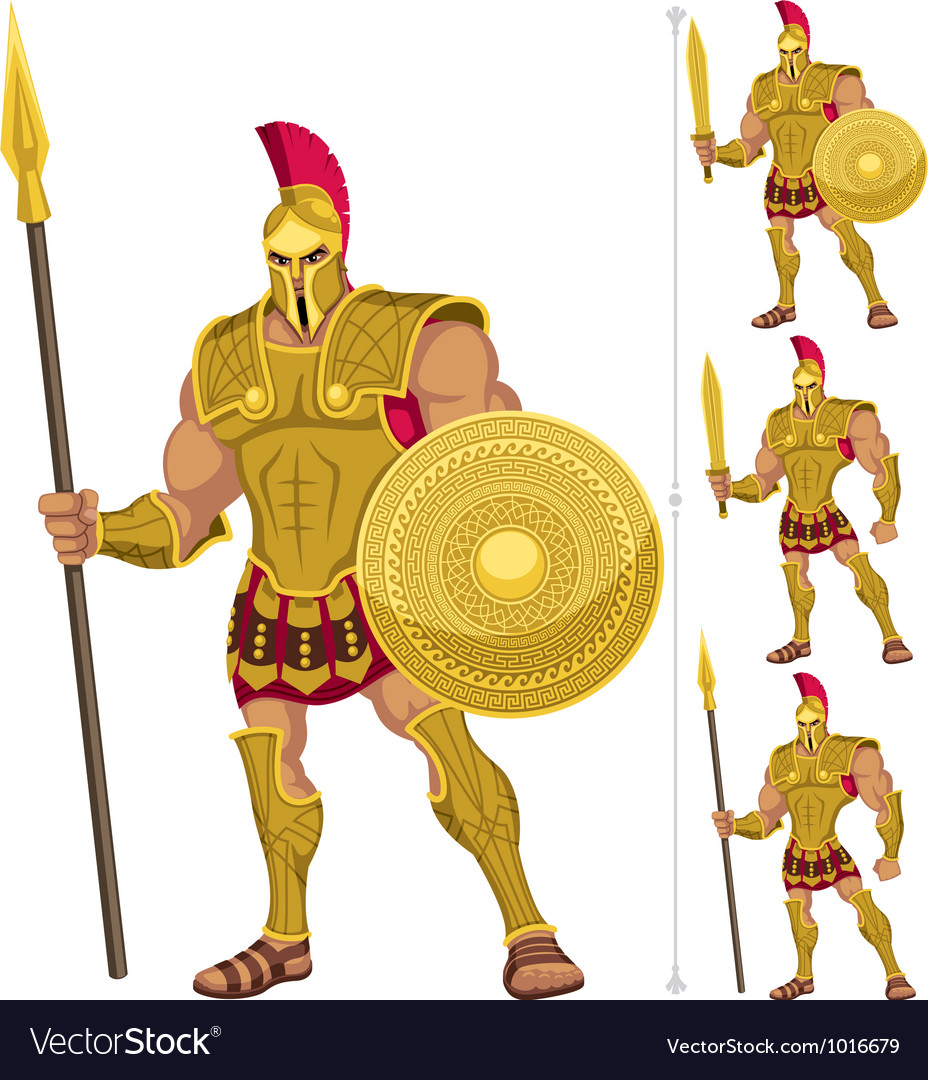 Greek hero vector | Price: 3 Credit (USD $3)