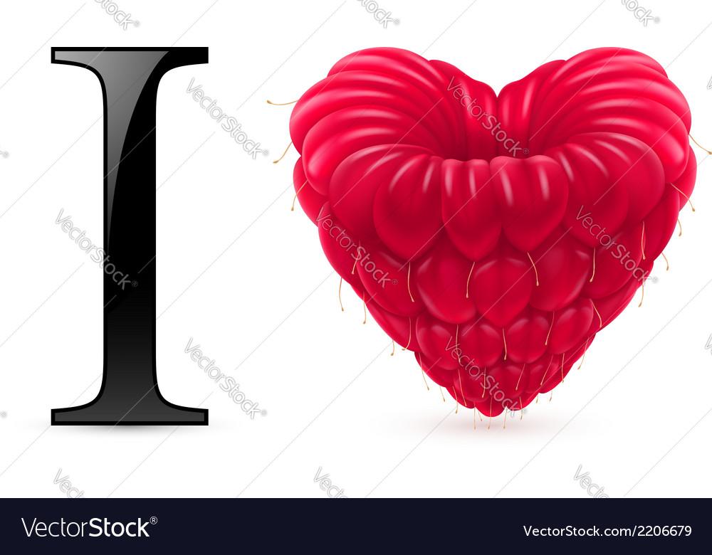 I love raspberry vector | Price: 1 Credit (USD $1)