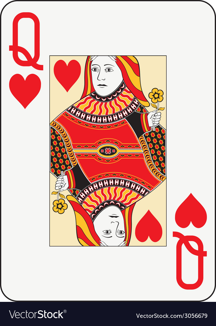 Jumbo index queen of hearts vector | Price: 1 Credit (USD $1)