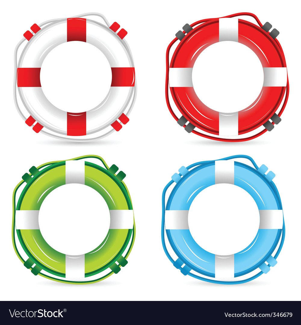 Lifebuoy signs vector | Price: 1 Credit (USD $1)