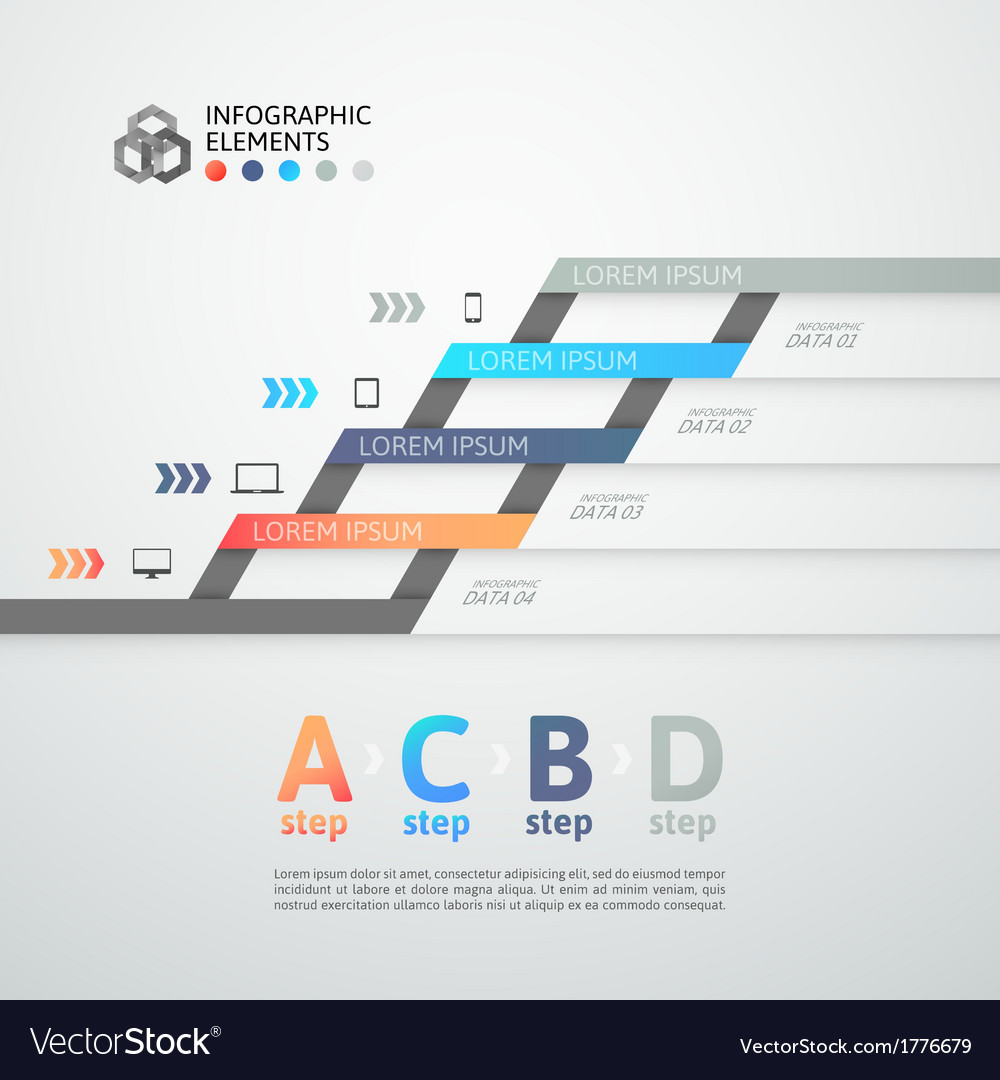 Modern business step origami style options banner vector   Price: 1 Credit (USD $1)