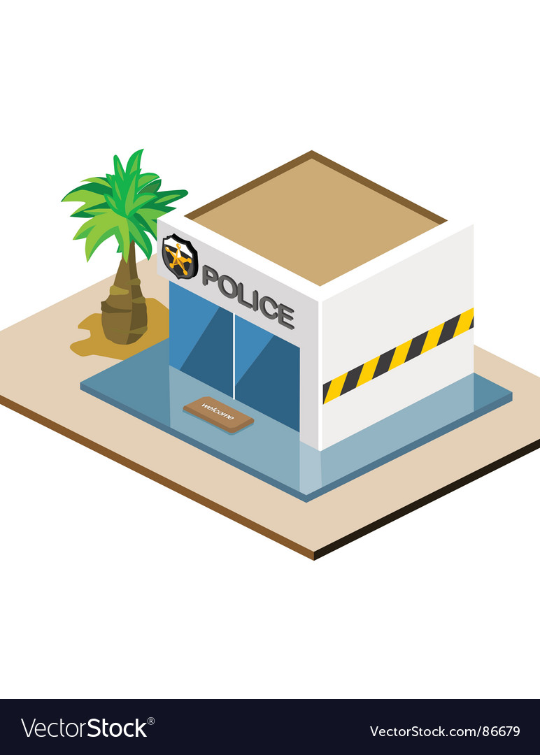 Police station vector | Price: 1 Credit (USD $1)