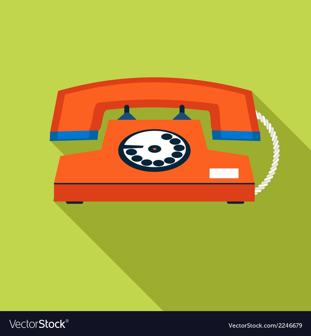 Retro vintage communication symbol telephone icon vector | Price: 1 Credit (USD $1)