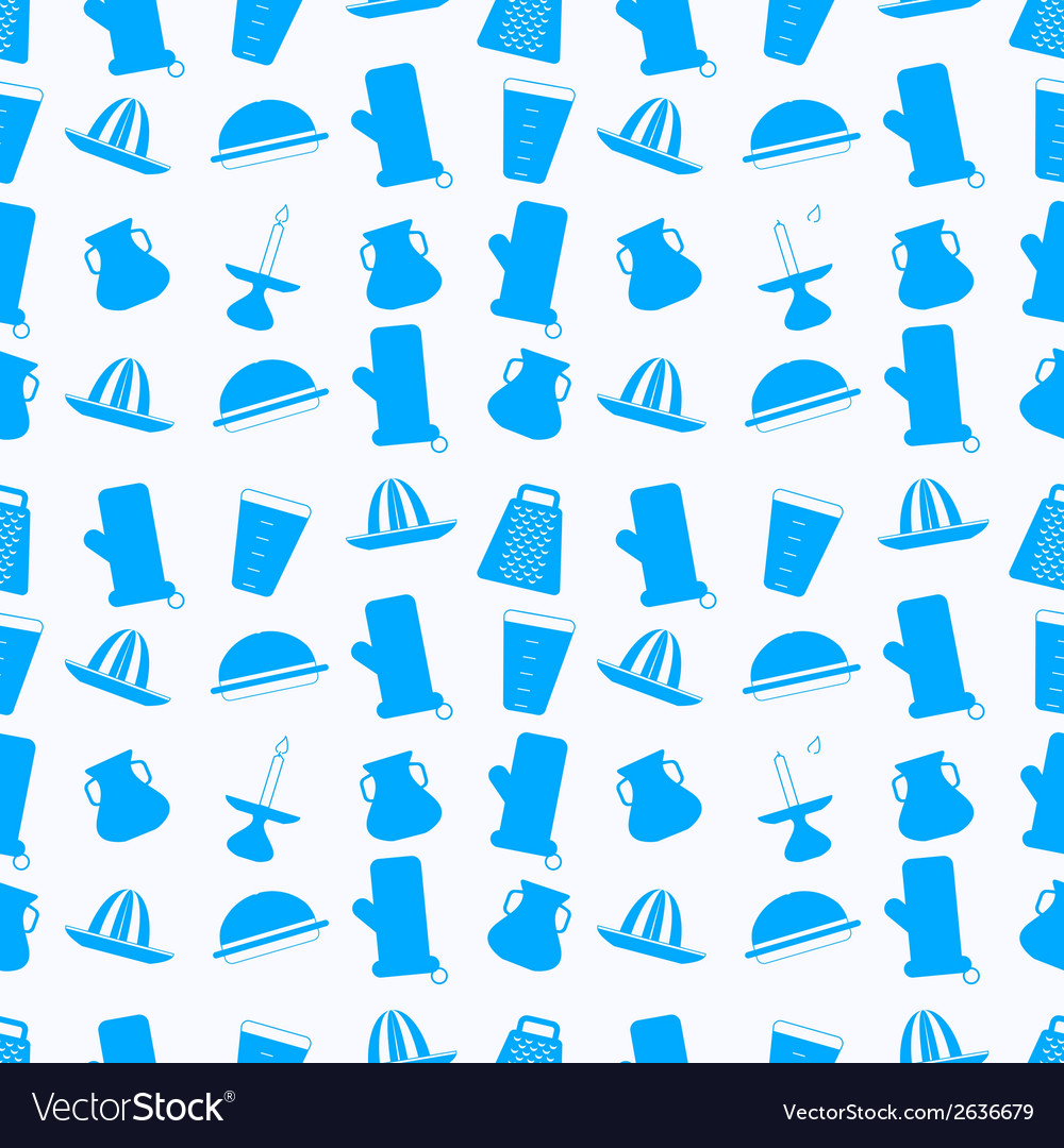 Seamless background for kitchenware vector | Price: 1 Credit (USD $1)