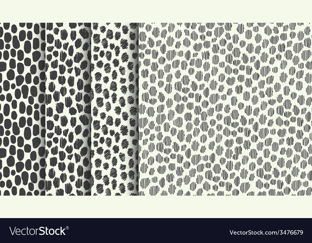 Set of four seamless stylized animal skin textures vector | Price: 1 Credit (USD $1)