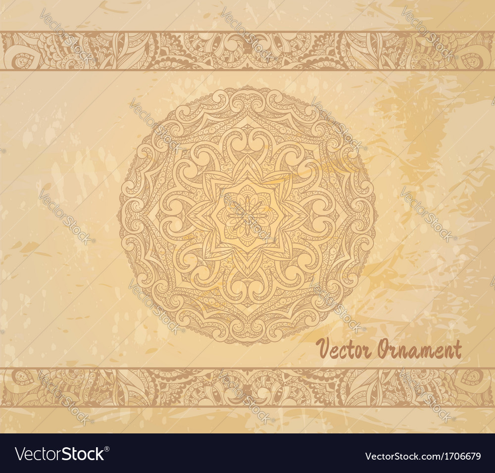 Thnic vintage ornament background vector | Price: 1 Credit (USD $1)
