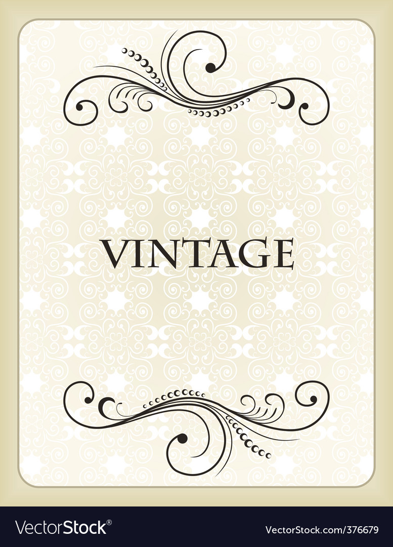 Vintage background card vector | Price: 1 Credit (USD $1)
