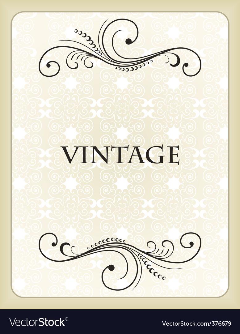Vintage background card vector | Price: 1 Credit (USD $1)