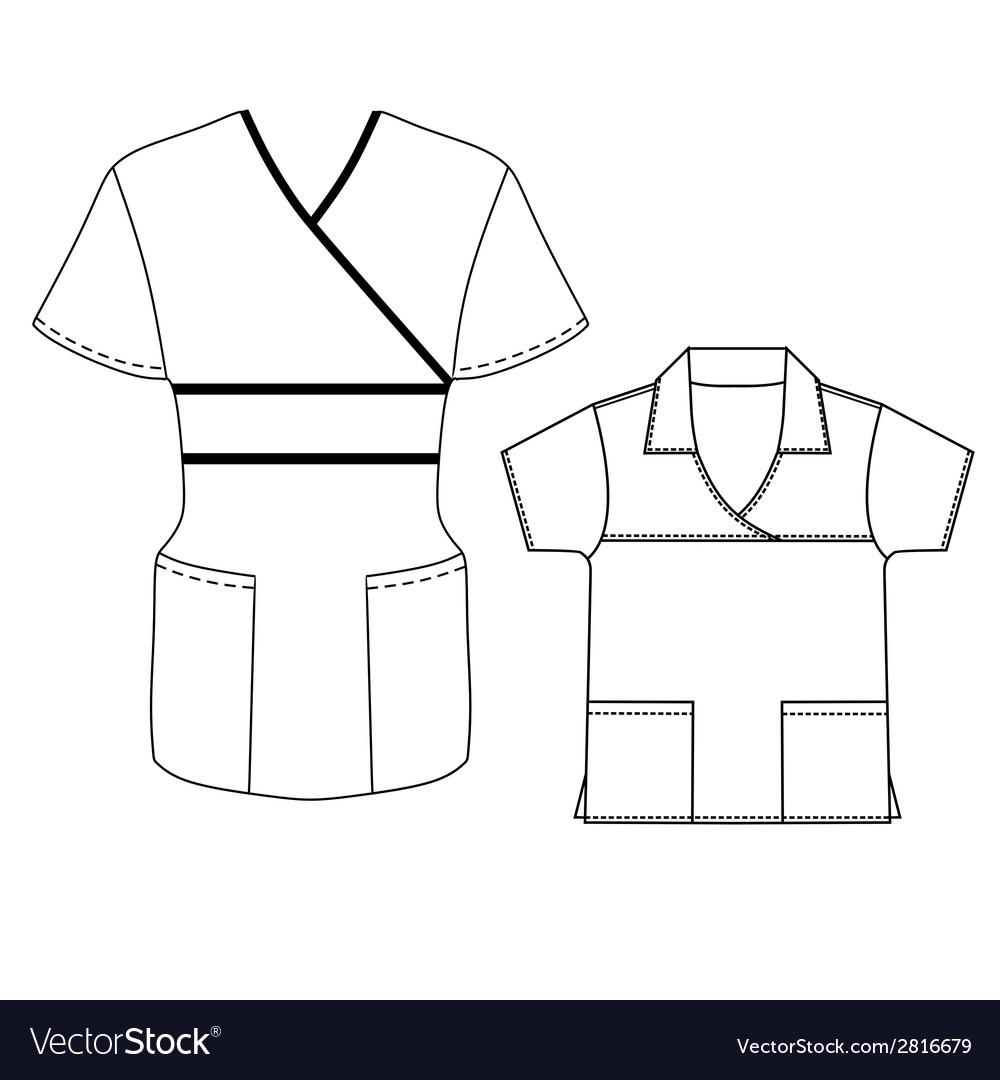 Women spa uniform vector | Price: 1 Credit (USD $1)