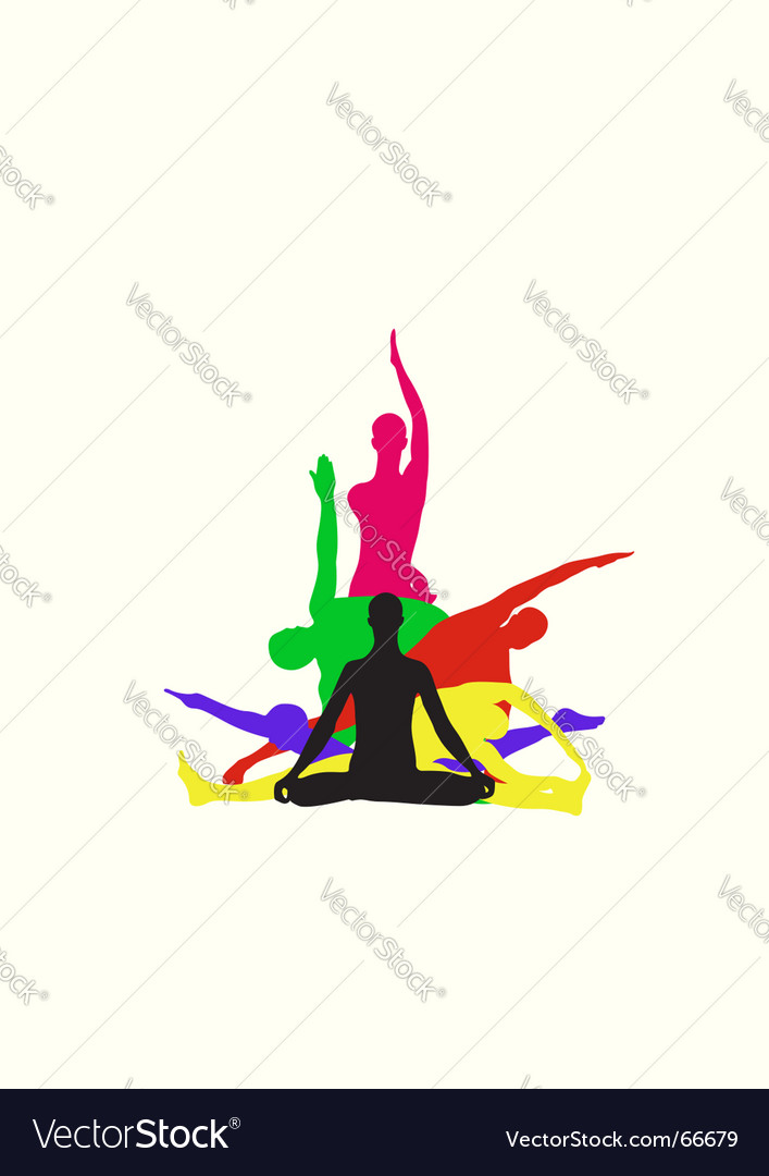 Yoga center identity vector | Price: 1 Credit (USD $1)