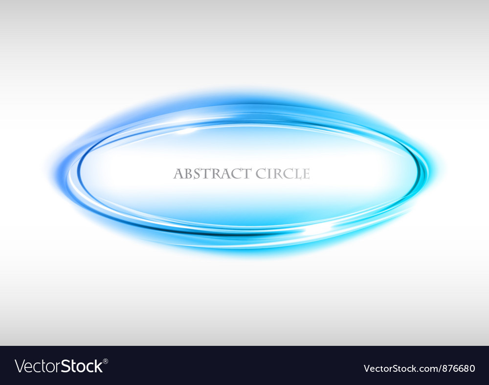 Abstract circle on white blue vector | Price: 1 Credit (USD $1)