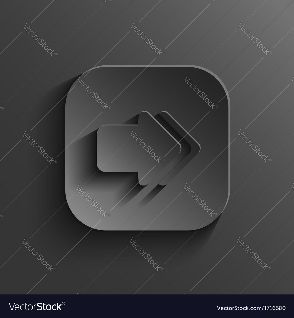 Arrow icon - black app button vector | Price: 1 Credit (USD $1)
