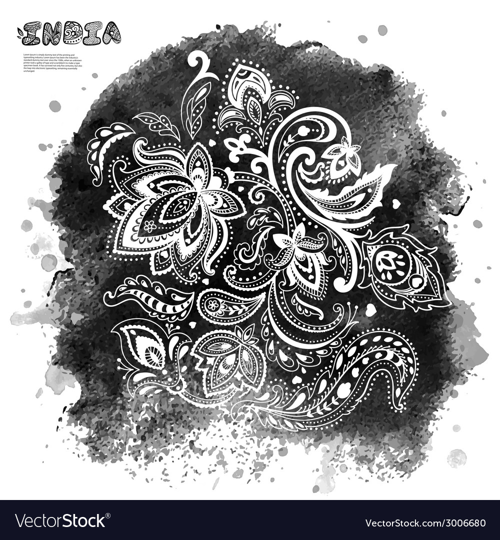 Beautiful indian paisley ornament vector   Price: 1 Credit (USD $1)