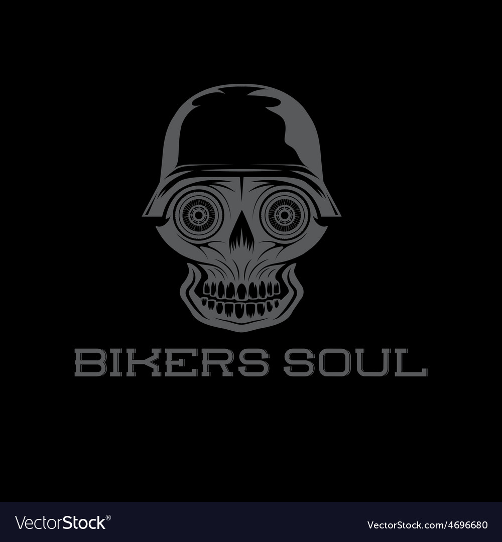 Bikers soul concept with skull vector | Price: 1 Credit (USD $1)