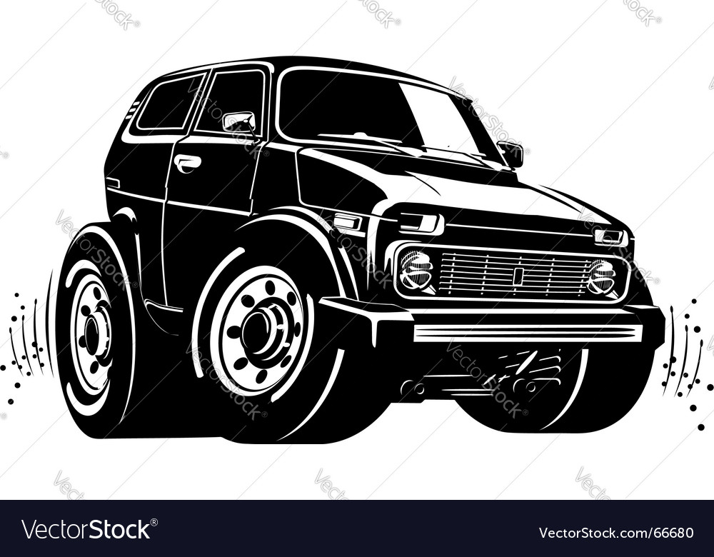 Cartoon off-road vehicle vector | Price: 1 Credit (USD $1)