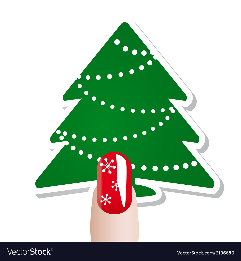 Christmas nail card vector | Price: 1 Credit (USD $1)