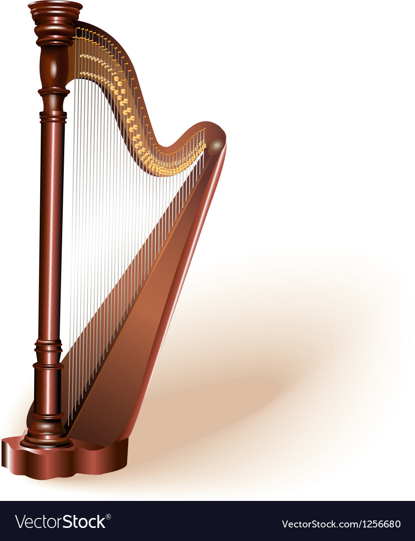The concert harp vector | Price: 1 Credit (USD $1)