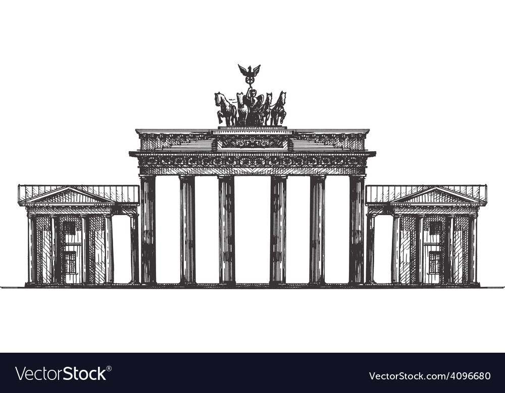 Germany logo design template monument or vector | Price: 3 Credit (USD $3)